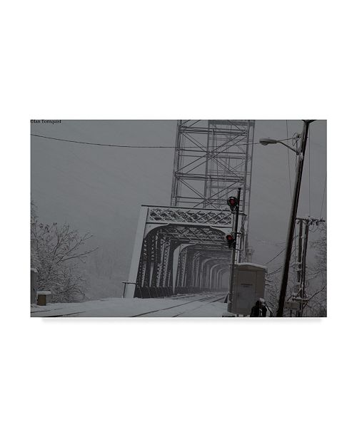 "Trademark Global Ian Tornquist 'Livingston Avenue Bridge 1' Canvas Art - 32"" x 22"""