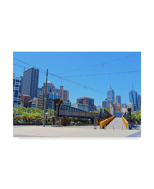 "Trademark Global Incredi 'Melbourne Bridge' Canvas Art - 32"" x 22"""