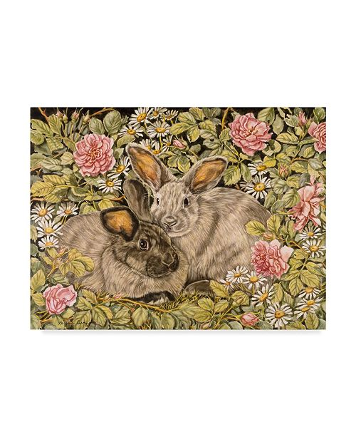"""Trademark Global Jan Benz 'Daisy & Rose' Canvas Art - 47"""" x 35"""""""