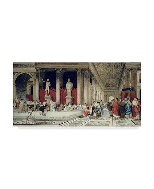 """Trademark Global Virgilio Mattoni De La Fuente 'The Baths Of Caracalla' Canvas Art - 24"""" x 12"""""""