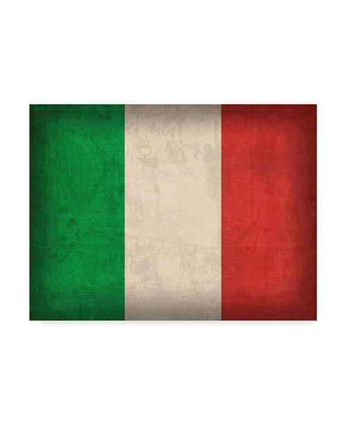 """Trademark Global Red Atlas Designs 'Italy Distressed Flag' Canvas Art - 32"""" x 24"""""""