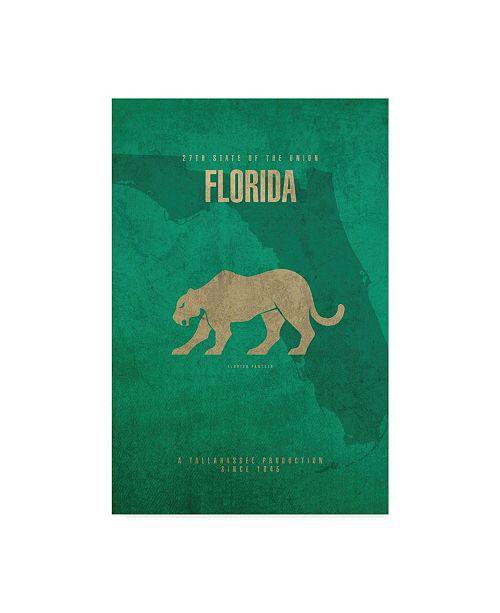 "Trademark Global Red Atlas Designs 'State Animal Florida' Canvas Art - 32"" x 22"""