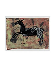 "Maria Pietri Lalor 'Ethnic Deer' Canvas Art - 47"" x 35"""