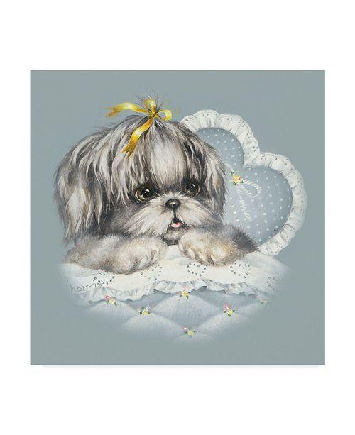 "Trademark Global Peggy Harris 'Hush Puppy' Canvas Art - 35"" x 35"""