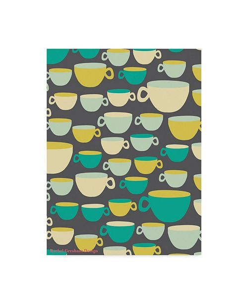 "Trademark Global Rachel Gresham 'Mugs Cups' Canvas Art - 35"" x 47"""