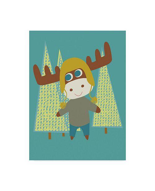 "Trademark Global Rachel Gresham 'Moose Over Trees' Canvas Art - 35"" x 47"""