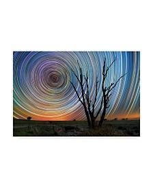"Lincoln Harrison 'Night Watch Stars' Canvas Art - 32"" x 22"""