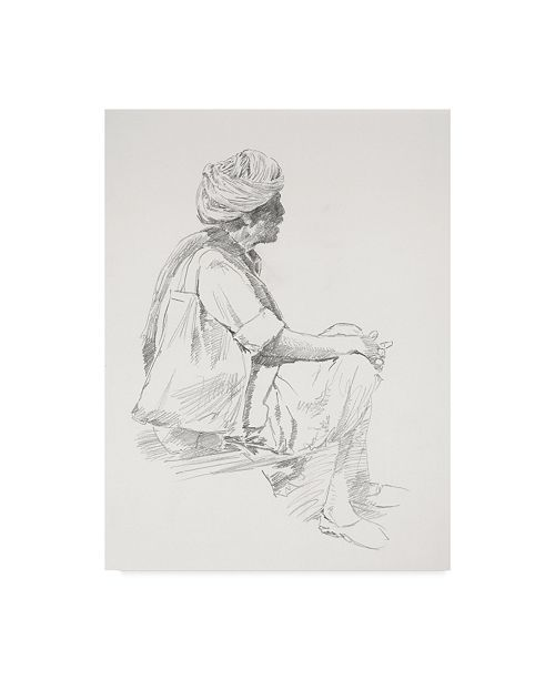 "Trademark Global Michael Jackson 'Eastern Man Sketch' Canvas Art - 35"" x 47"""
