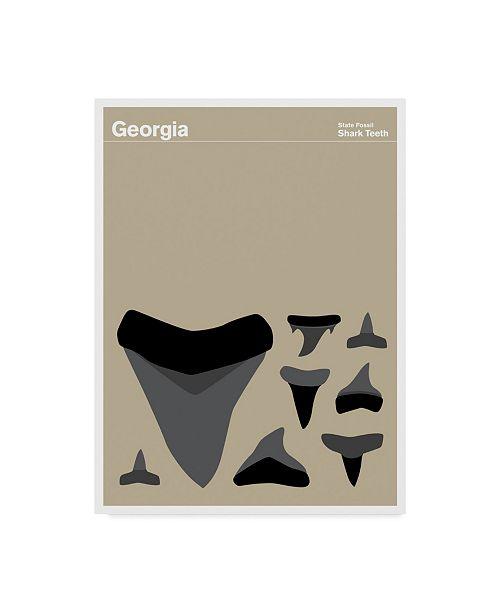 "Trademark Global Print Collection - Artist 'Georgia Shark Teeth' Canvas Art - 24"" x 32"""