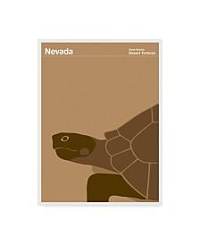 "Print Collection - Artist 'Nevada Tortoise' Canvas Art - 35"" x 47"""
