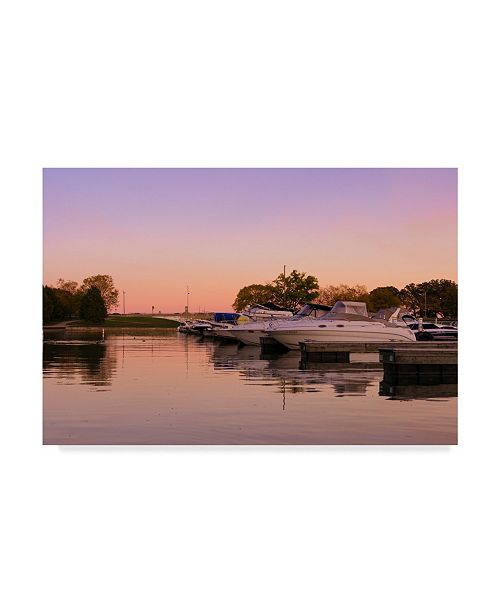 "Trademark Global Njr Photos 'Violet Harbor' Canvas Art - 47"" x 30"""