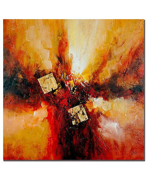 "Trademark Global Rio 'Cube Abstract I' Canvas Art - 24"" x 24"""