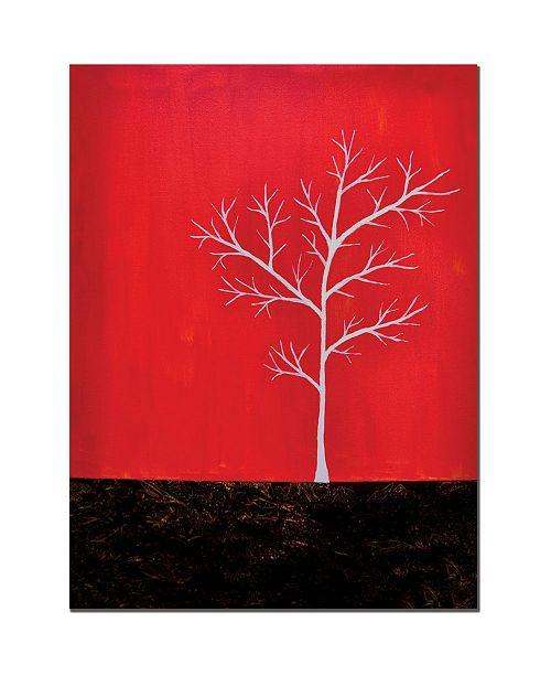 "Trademark Global Nicole Dietz 'Red on White Series' Canvas Art - 24"" x 18"""