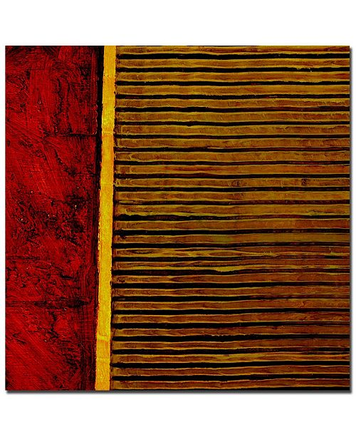 "Trademark Global Michelle Calkins 'Red and Green Rustic' Canvas Art - 24"" x 24"""