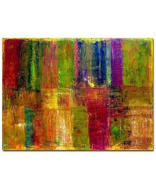 """Trademark Global Michelle Calkins 'Color Panel Abstract' Canvas Art - 47"""" x 35"""""""