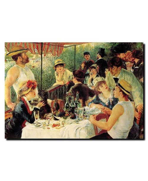 """Trademark Global Pierre Renoir, 'Luncheon of the Boating Party' Canvas Art - 24"""" x 18"""""""