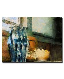 "Lois Bryan 'Still Life with Blue Jug' Canvas Art - 47"" x 30"""
