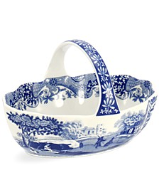 Dinnerware, Blue Italian Handled Basket