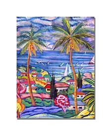 """Manor Shadian 'Hawaii Wind Surf' Canvas Art - 47"""" x 35"""""""