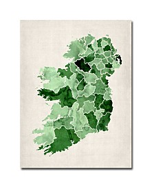 "Michael Tompsett 'Ireland Watercolor' Canvas Art - 47"" x 35"""