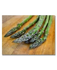 "Michelle Calkins 'Asparagus' Canvas Art - 32"" x 22"""