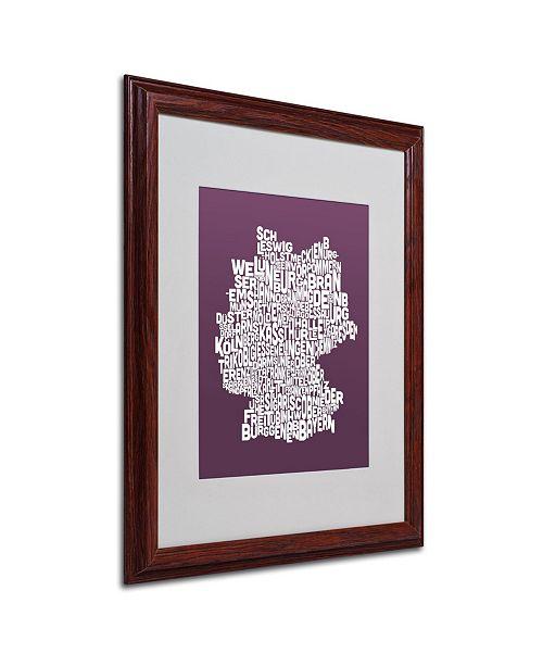 """Trademark Global Michael Tompsett 'MULBERRY-Germany Regions Map' Framed Art - 20"""" x 16"""""""