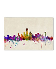 "Michael Tompsett 'Dallas, Texas' Canvas Art - 24"" x 16"""