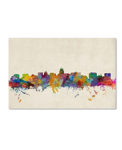 "Trademark Global Michael Tompsett 'Madison Watercolor Skyline' Canvas Art - 32"" x 22"""