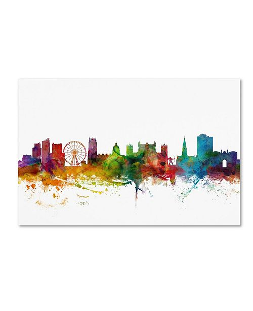 "Trademark Global Michael Tompsett 'Nottingham England Skyline II' Canvas Art - 24"" x 16"""
