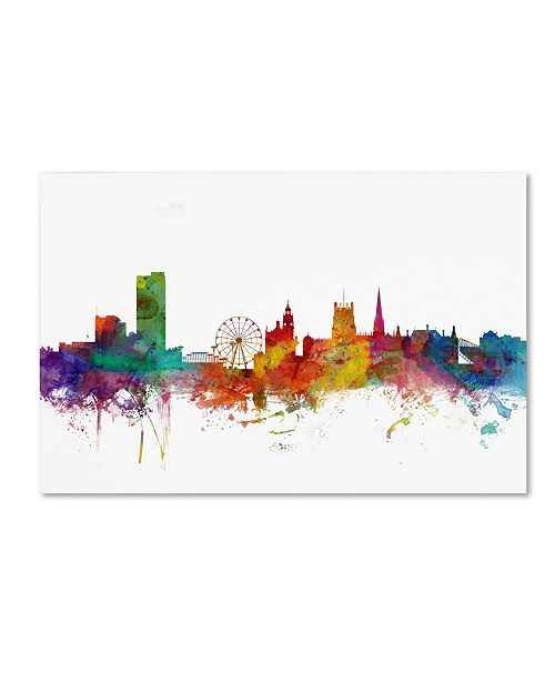 "Trademark Global Michael Tompsett 'Sheffield England Skyline II' Canvas Art - 47"" x 30"""