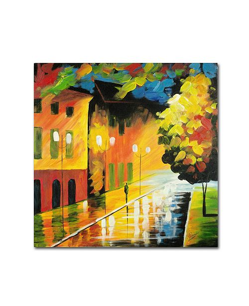 "Trademark Global Ricardo Tapia 'Street Light' Canvas Art - 35"" x 35"""