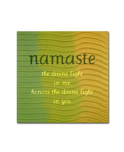 "Trademark Global Michelle Calkins 'Namaste' Canvas Art - 35"" x 35"""