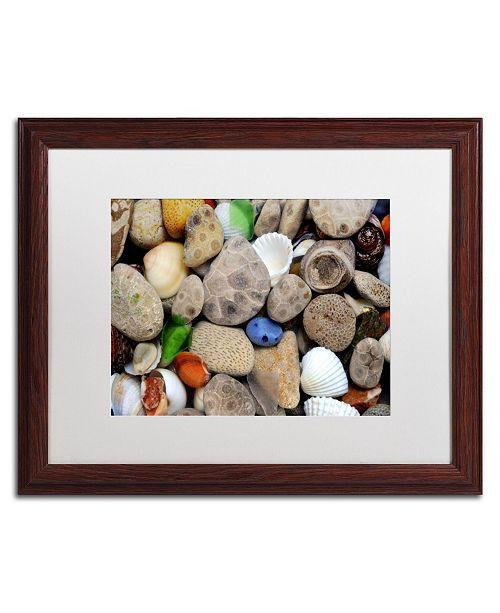 "Trademark Global Michelle Calkins 'PetoskeyStones lll' Matted Framed Art - 20"" x 16"""