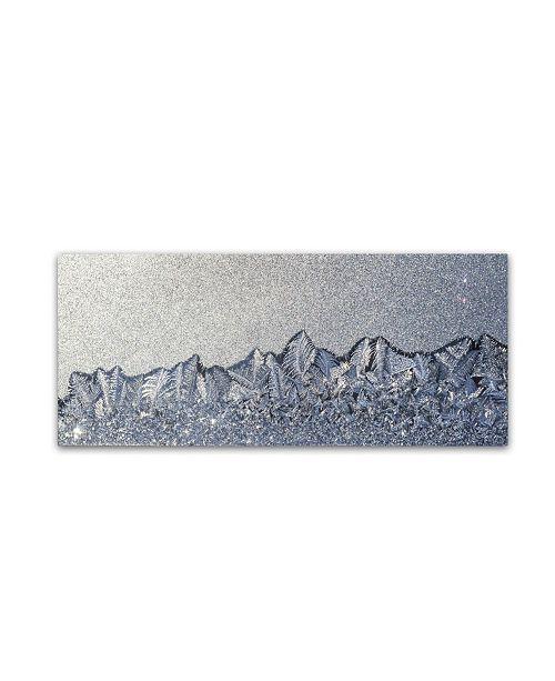"""Trademark Global Kurt Shaffer 'Frost Mountain Range' Canvas Art - 20"""" x 47"""""""