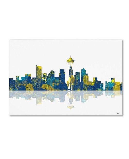 "Trademark Global Marlene Watson 'Seattle Washington Skyline II' Canvas Art - 30"" x 47"""