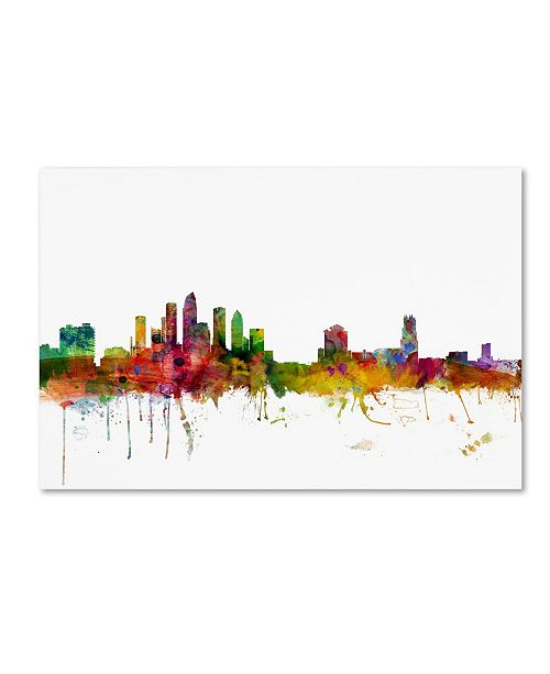 "Trademark Global Michael Tompsett 'Tampa Florida Skyline' Canvas Art - 30"" x 47"""