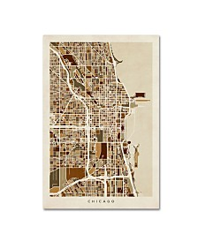 "Michael Tompsett 'Chicago City Street Map' Canvas Art - 22"" x 32"""