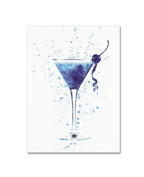 "Trademark Global Michael Tompsett 'Cocktail Drinks Glass Watercolor I' Canvas Art - 14"" x 19"""