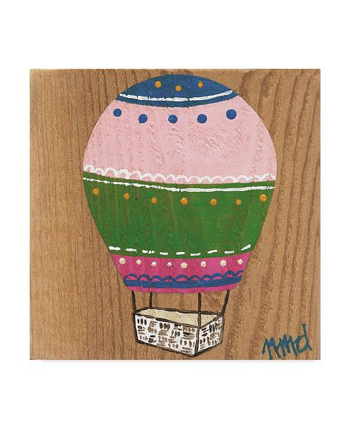 "Trademark Global Nicole Dietz 'Hot Air Balloon 2' Canvas Art - 14"" x 14"""