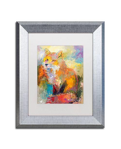 """Trademark Global Richard Wallich 'Fox' Matted Framed Art - 11"""" x 14"""""""