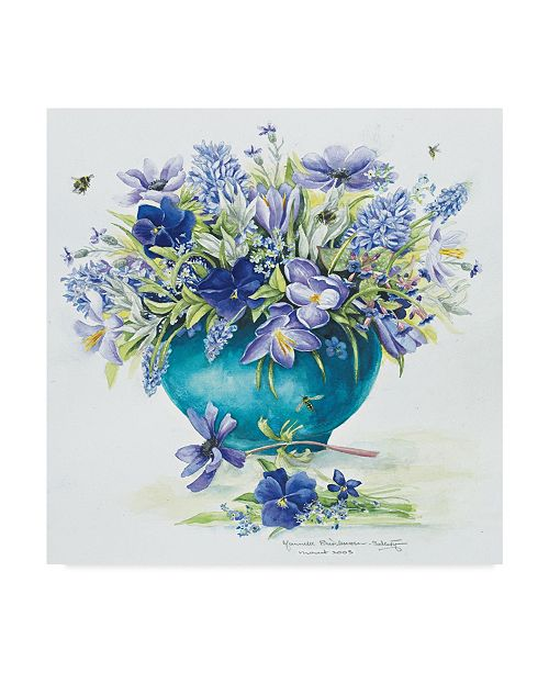 "Trademark Global Janneke Brinkman-Salentijn 'March Bouquet' Canvas Art - 14"" x 14"""