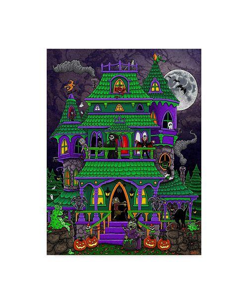 "Trademark Global Jake Hose 'Haunted House' Canvas Art - 14"" x 19"""