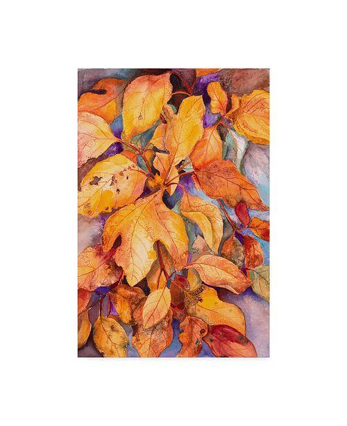 """Trademark Global Joanne Porter 'Sassafras Leaves' Canvas Art - 12"""" x 19"""""""