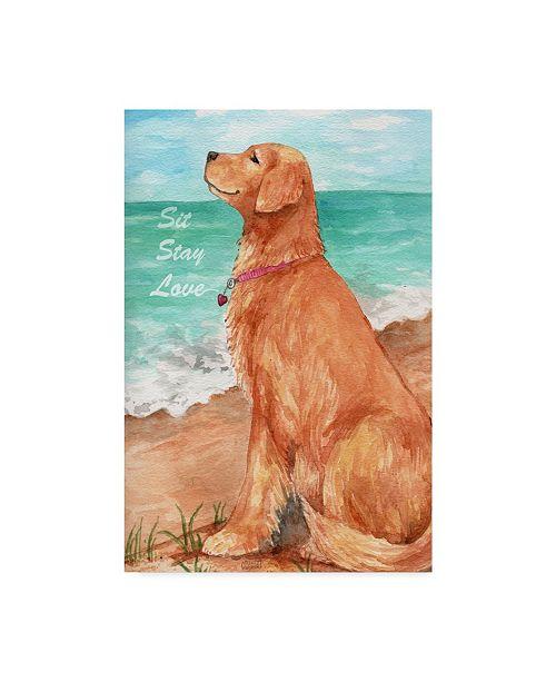 "Trademark Global Melinda Hipsher 'Golden Stay Love' Canvas Art - 12"" x 19"""