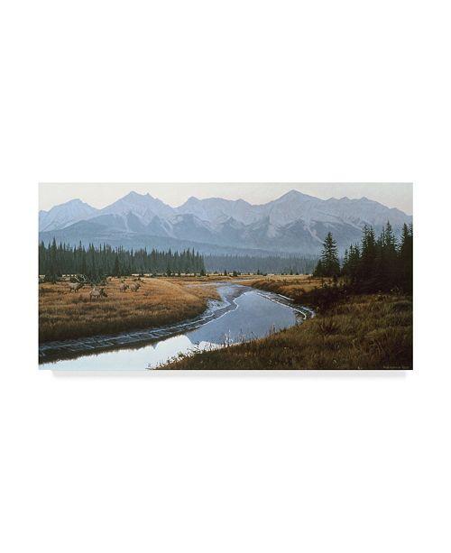 "Trademark Global Ron Parker 'Kootenay Dawn' Canvas Art - 12"" x 24"""