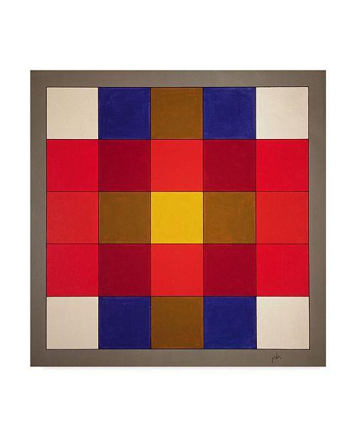 "Trademark Global Peter McClure 'Subliminal Yellow Cross' Canvas Art - 14"" x 14"""
