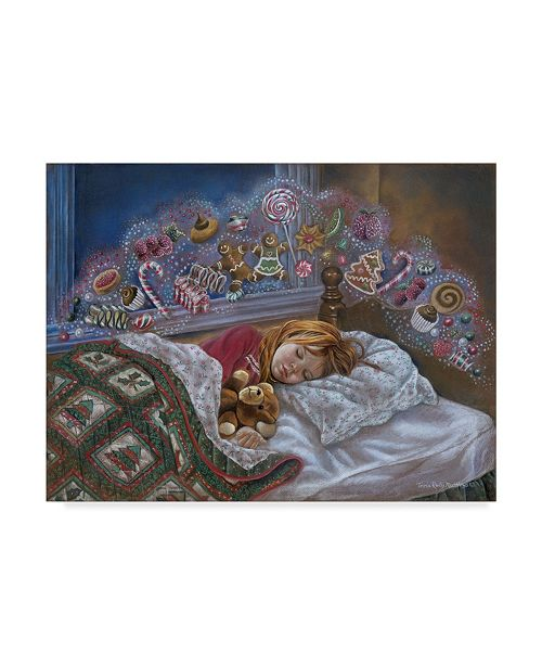 "Trademark Global Tricia Reilly-Matthews 'Visions Of Sugarplums' Canvas Art - 14"" x 19"""