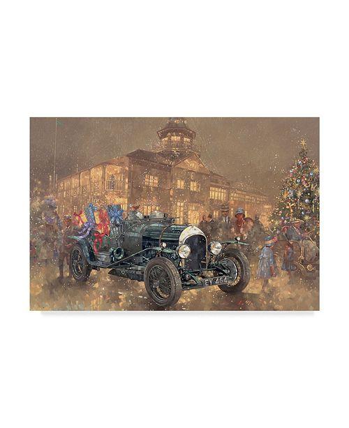 "Trademark Global Peter Miller 'Christmas Party at Brooklands' Canvas Art - 12"" x 19"""