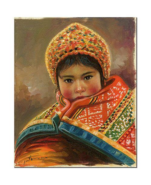 "Trademark Global Jimenez 'Mirada Inocente' Canvas Art - 14"" x 19"""