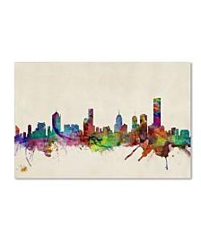 "Michael Tompsett 'Melbourne, Australia' Canvas Art - 14"" x 19"""